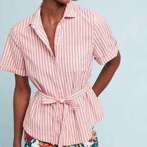 NWT Isabella Striped shirt XL Anthro, beachwear